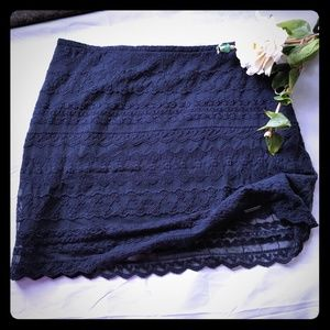 Abercrombie & Fitch blue lace min skirt size 6
